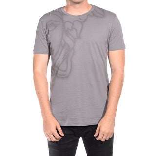 Versace Collections Men Medusa Head Crew Neck T-Shirt Grey