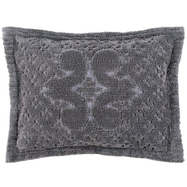 "Bettertrends Chenille Tufted Ashton Standard Pillow Sham 21""x27"" Chocolate"
