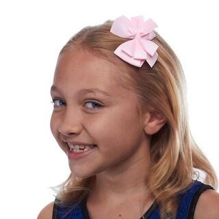 Pretty in Pastel Girls Grosgrain Hair Bow, Set of 4