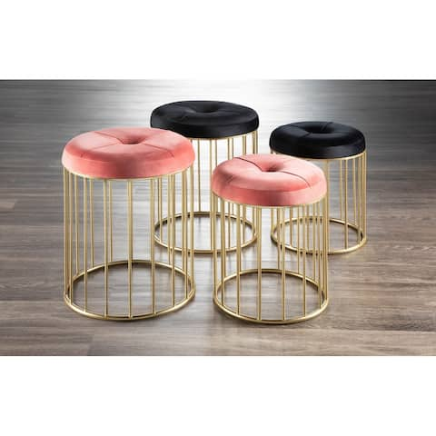 Canary Gold Nesting Ottomans