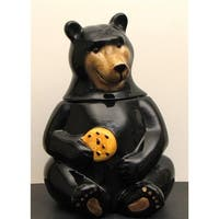 IWGAC 049-17731 Ceramic Black Bear Cookie Jar