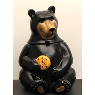 IWGAC 049-17731 Ceramic Black Bear Cookie Jar
