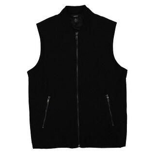 Alfani Deep Black Mens Size 2XL Full-Zip Sleeveless Vest Jacket