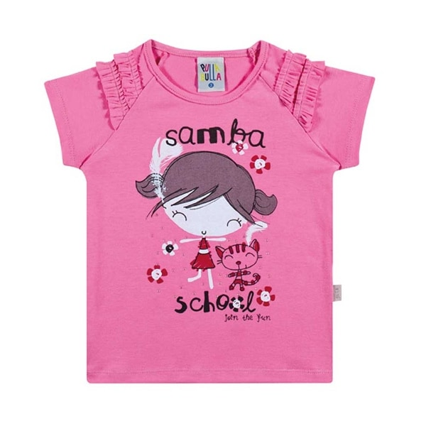 Toddler Girl T-Shirt Graphic Tee Little Girls Ruffled Top Pulla Bulla 1-3 Years