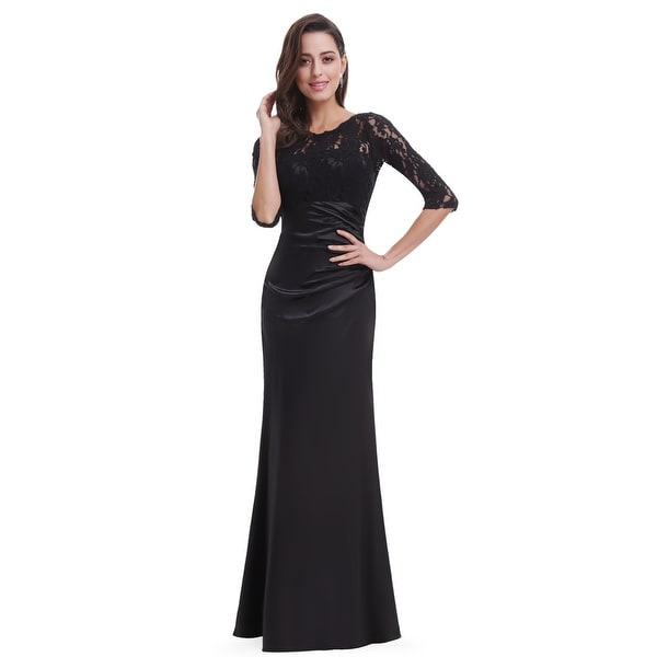 Ever-Pretty Elegant 3/4 sheer Sleeves Lace Evening Dresses 09882