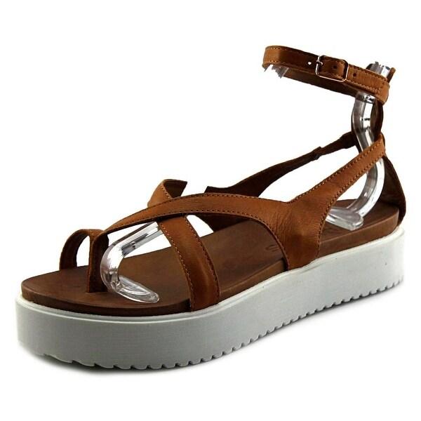 J/Slides St. Vincent Women Open Toe Synthetic Tan Platform Sandal