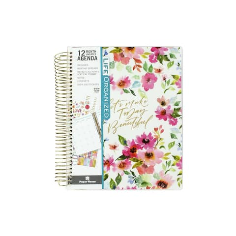 Paper House Planner 12 Month WC Floral