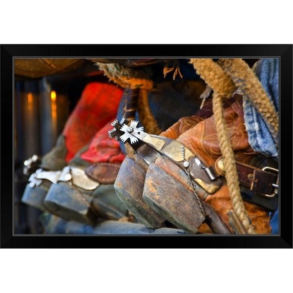 """Closeup Of Boots"" Black Framed Print"