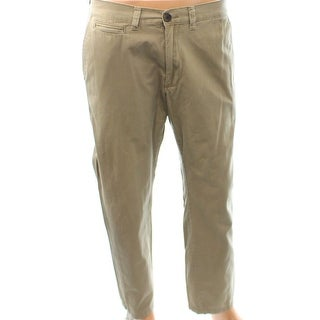 American Rag NEW Beige Mens Size 34X30 Twill Casual Pants Cotton