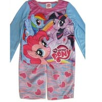 My Little Pony Little Girls Pink White Pony Heart 2 Pc Pajama Set 4-6