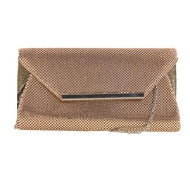 La Regale Womens Mesh Evening Clutch Handbag - Silver - Small