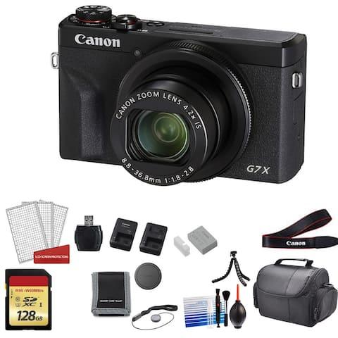 Canon PowerShot G7X Mark III Camera (Black) with 2x 64GB Memory Cards