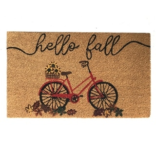 Link to Farmhouse Living Hello Fall Bike Coir Doormat Similar Items in Decorative Accessories
