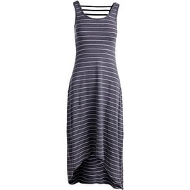 Marc New York by Andrew Marc Womens Maxi Striped Performance Dress Gray M