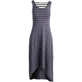 Marc New York by Andrew Marc Womens Maxi Striped Performance Dress Grey XS