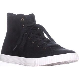 Tretorn Matchhi3 High Top Fashion Sneakers, Black/Black - 9.5 us / 41.5 eu