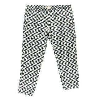 MICHAEL Michael Kors Womens Houndstooth Printed Skinny Pants - 6