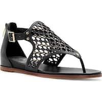 Vince Camuto Women's Sitara Thong Sandal Black Soft Nappa PU