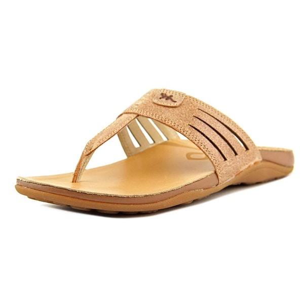 Chaco Sansa Women Open Toe Synthetic Tan Flip Flop Sandal