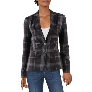 Link to Philosophy Womens Blazer Woven Plaid - Autumn Plaid Similar Items in Suits & Suit Separates