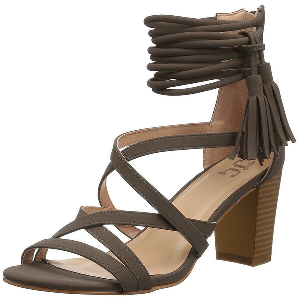 Brinley Co Womens Ruthie Open Toe Special Occasion Strappy Sandals