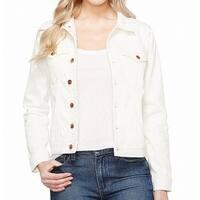DL1961 White Ivory Women Size Large L Maddox Boyfriend Denim Jacket
