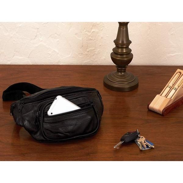 c84169c0c477 Shop Maxam® Italian Mosaic™ Genuine Lambskin Leather Belt Bag - Free  Shipping On Orders Over  45 - Overstock - 22034336