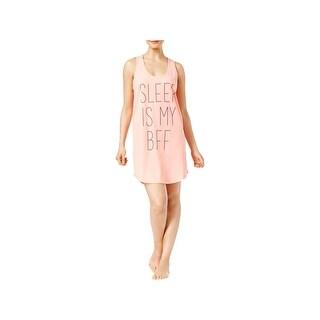 Jenni by Jennifer Moore Womens Girls Just Wanna Have Sun Sleep Tank Slogan