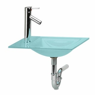 Bathroom Mini Counter Sink Green Glass Combo Package Renovator's Supply
