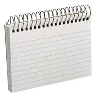 Esselte Pendaflex Perforated Ruled Spiral Bound Index Card, 3 x 5 Inch, White, Pack of 50
