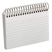 Oxford Perforated Ruled Spiral Bound Index Cards, 3 x 5 Inches, White, Pack of 50