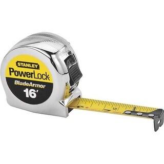 "Stanley 33-516 Micro Powerlock Tape Measure, 1"" x 16'"
