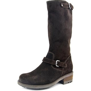 La Canadienne Cathy Women Round Toe Suede Mid Calf Boot