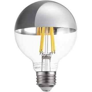 G25 Half Chrome Light Bulb, Warm White 3000K