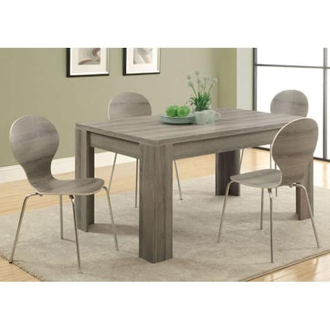 """Offex Dark Taupe Reclaimed-Look 36"""" x 60"""" Dining Table"""
