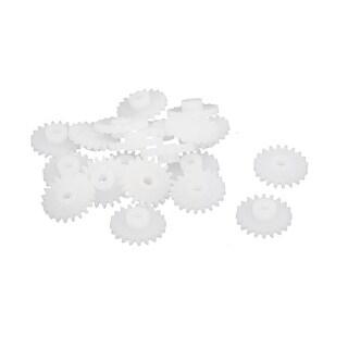 20PCS 20 Teeth 2mm Hole Diameter Plastic Gear Wheel for RC Toy Car