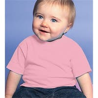 Rabbit Skins 3401 Infant Cotton T-Shirt, Pink, 6