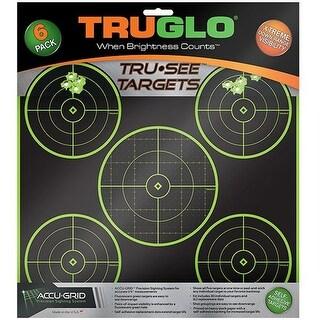 """""""Truglo 12 x 12 Tru See Splatter Target 5 - Bullseye 12 Pack - Green Splatter Target 5 - Bullseye"""""""