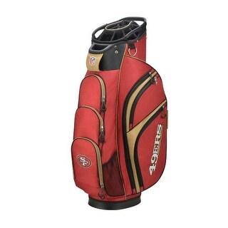 Wilson NFL San Francisco 49ers Cart Golf Bag 14 Divide Top WGB9700SF - Red