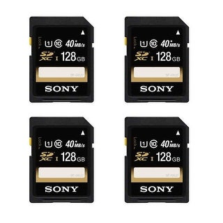 Sony 128GB SDXC CLASS 10 UHS-1 Memory card (Pack of 4)