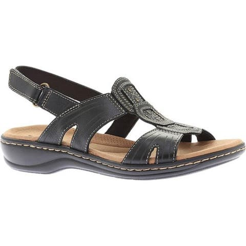 eaa71f437 Clarks Women s Leisa Vine Slingback Black Full Grain Leather
