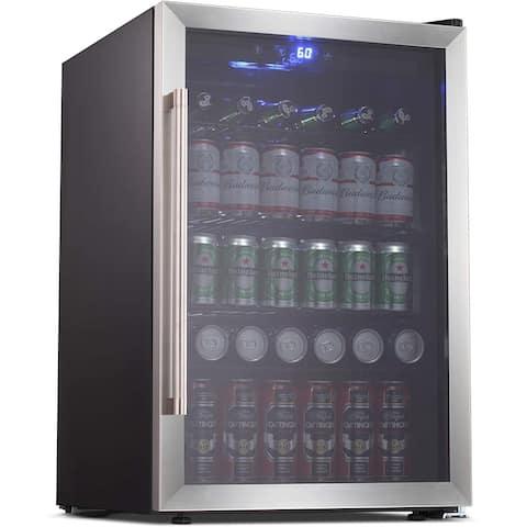 Beverage Cooler Refrigerator 128 Can 37 bottle Mini Fridge