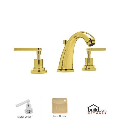Rohl A1208LM-2 Avanti Double Handle Widespread Lavatory Faucet with Metal Lever Handles