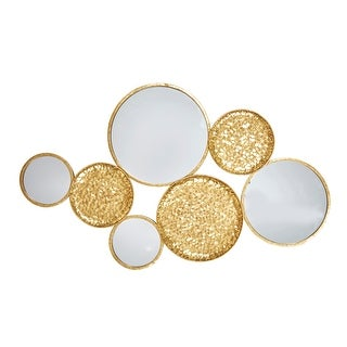 """Link to Metal 39"""" Mirrored Wall Decor, Gold,  Wb Similar Items in Wall Sculptures"""