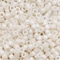 Miyuki Delica Seed Beads, 11/0 Size, 7.2 Grams, Opaque Alabaster Luster DB211
