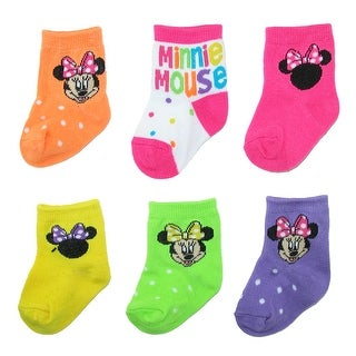 Disney Baby Girls Minnie Mouse Socks (6 Pair Pack)