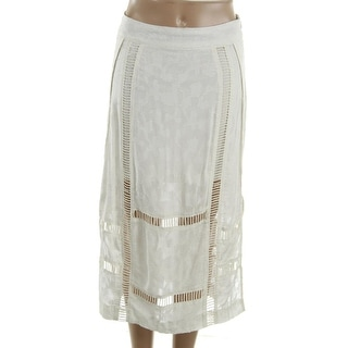 Free People Womens Cut-Out Slit Pencil Skirt
