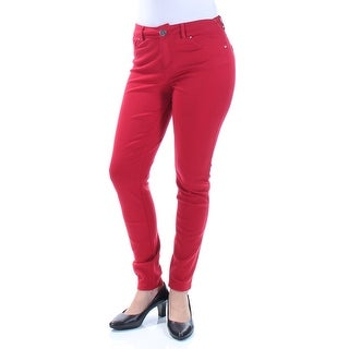 Womens Red Casual Leggings Size 4