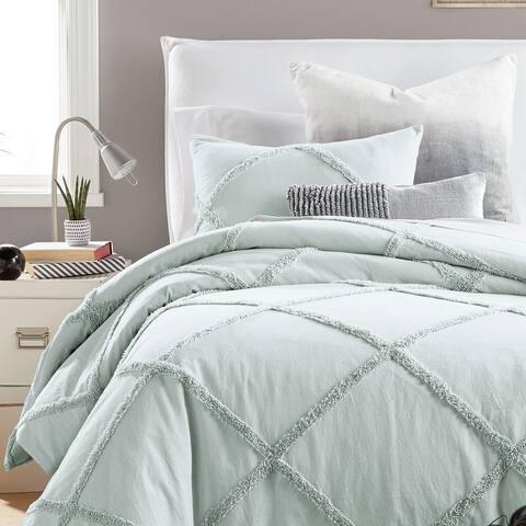 Camille Lattice Cotton Comforter and Sham Set