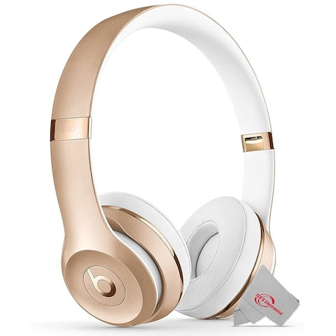 Beats by Dr. Dre Beats Solo3 Wireless On-Ear Headphones with Carrying Case 40 HR Battery Life - Gold
